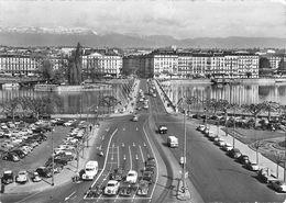 Genève - Le Pont Du Mont Blanc - Les Hôtels De La Rive Droite Et Le Jura - GE Geneva