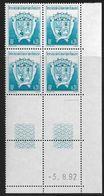 TERRES AUSTRALES N° 171** BLASON COIN DATE DU 03/08/92 - Unused Stamps