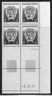 TERRES AUSTRALES N° 163** BLASON COIN DATE DU 06/11/91 - Unused Stamps