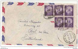 96 - 48 - Enveloppe Avion Envoyée De Menlo Park En Suisse - United States