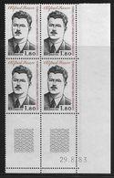 TERRES AUSTRALES N° 104** FAURE COIN DATE DU 29/08/83 - Unused Stamps