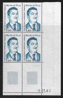 TERRES AUSTRALES N° 99** VIVIES COIN DATE DU 09/11/82 - Unused Stamps