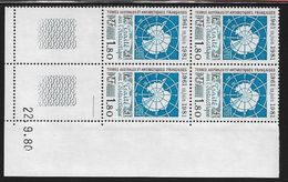TERRES AUSTRALES N° 91** TRAITE COIN DATE DU 22/09/80 - Unused Stamps