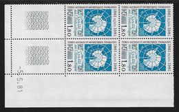 TERRES AUSTRALES N° 91** TRAITE COIN DATE DU 05/05/81 - Unused Stamps