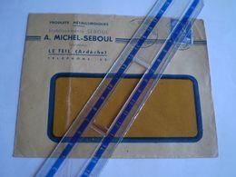Enveloppe Commerciale Ets Seboul, Le Teil, Ardèche, Produits Métallurgiques, Marianne De Gandon 15f 1953 - 1921-1960: Periodo Moderno