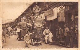 China - SHANGHAI - Paper Images At The Head Of Funeral Procession To Frighten Away Evil Spirits - SEE STAMP - Publ. Mact - Chine