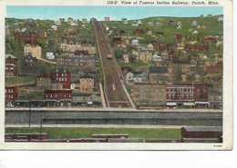 CPA - USA :  View Of Famous Incline Railway - DULUTH  - Minnesota - 1940 - Duluth