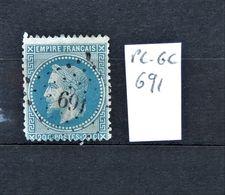 05 - 20 // France N° 29 Oblitération PC Des GC 691 - Caen - 1863-1870 Napoléon III Lauré