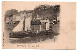 GRANVILLE LE VAPEUR OUDENE ET TRAIN SUR LE QUAI  ANIMEE - Granville