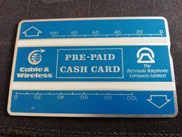 BERMUDA L&G 2X 100 UNITS BLEU PREPAID CASH CARD   MINT CARD SERIAL NR 210A06782  ** 2183 ** - Bermude