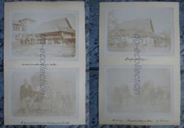 CAMBODGE TREANG TAKEO 4 Photographies Fin XIX / Début XX Gouverneur Pagode éléphants Résidence Photo Asie CAMBODIA Asia - Old (before 1900)