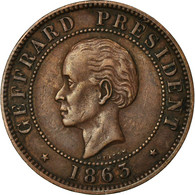 Monnaie, Haïti, 10 Centimes, 1863, TTB, Bronze, KM:40 - Haiti