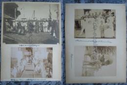 LAOS CAMBODGE 4 Photographies Fin XIX / Début XX Prince Orchestre Acteurs Cambodgiens éléphant Photo Asie CAMBODIA Asia - Old (before 1900)