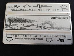 CURACAO NAF 50,- SETEL  L&G 200+40 UNITS VERY FINE USED  (RR) CURACAO SERIE  406B     ** 2185** - Antilles (Neérlandaises)