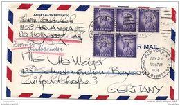 96 - 60 - Enveloppe Envoyée De New York En Allemagne 1956 - Stati Uniti