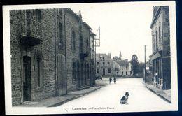 Cpa Du 22 Lanrelas Place Saint Fiacre             -- Environs St Méen Le Grand Merdrignac  AVR20-155 - Autres Communes