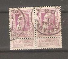 REF1335/ TP 80 (2) GB 2 F C.Antwerpen 11/1/1912 - 1905 Breiter Bart