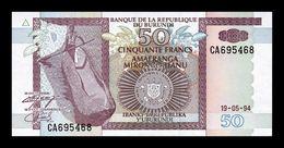 Burundi 50 Francs 1994 Pick 36a SC UNC - Burundi