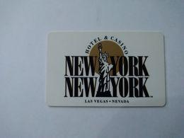 USA Hotel Key, New York New York Hotel & Casino Las Vegas (1pcs) - Hotel Keycards