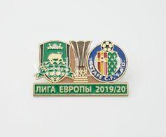 "Badge Pin: UEFA Europa League 2019-20  FC Krasnodar Russia - "" Getafe CF "" Spain - Fútbol"