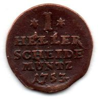 Hessen - Cassel  - 1 Heller 1753  -- état  B+ - [ 1] …-1871 : Stati Tedeschi