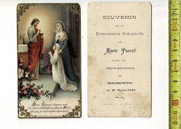 KL 5612 - SOUVENIR DE COMMUNION SOLENNELLE DE MARIE PARENT A BOESCHEPE 1926 - Andachtsbilder