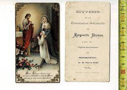 KL 5613 - SOUVENIR DE COMMUNION SOLENNELLE DE MARGUERITE HEYMAN  A BOESCHEPE 1926 - Andachtsbilder