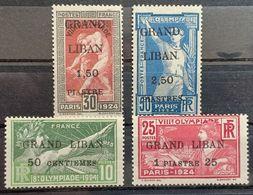 Eb20L14 - Lebanon 1924 Complete Set 4v. MLH Mi. 22-25 Olympic Games Cv 150$ - Líbano