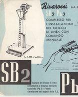 RIVAROSSI Fiche D'information Pour Les Revendeurs De 1958?  SB2  Pb2 - En Italien - Boeken En Tijdschriften