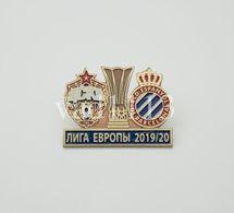 "Badge Pin: UEFA Champions League 2019-20 CSKA Moscow Russia -  "" RCD Espanyol "" Spain - Fútbol"