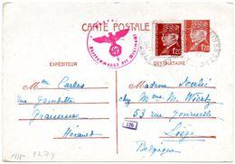 EP (type Pétain) Expédié De Graissessac (France) Vers Liège - Censure Allemande - WW II