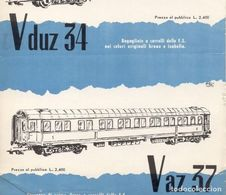 RIVAROSSI Fiche D'information Pour Les Revendeurs De 1958?Vduz 34 Vaz 37 - En Italien - Boeken En Tijdschriften