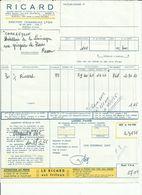 FACTURE RICARD LE : 27 MAI 1966 . - France