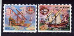 """ALGERIE  1981  MNH   -  """" BATEAUX  17e - 18e  SIECLES """" -   2  VAL - Algeria (1962-...)"""