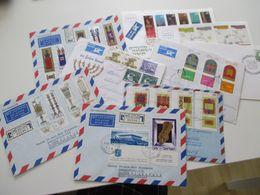 Israel 1964 - 79 Kleiner Belegeposten 10 Stk. Sammlerbelege / Luftpost Teilweise Mit Tab. Luftpost / Einschreiben - Cartas