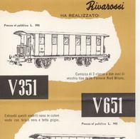 RIVAROSSI Fiche D'information Pour Les Revendeurs De 1958?C351 V651 FNM - En Italien - Boeken En Tijdschriften