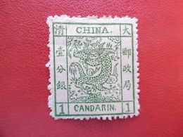 CHINE 1 CANDARIN  NEUF CHARNIÈRE CHINA DRAGON - China