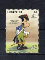 Leshoto - 1989 - S.4 - Walt Disney - Calvaryman Horace - Horsecollar - Nuovo ** - (FDC22307) - Lesotho (1966-...)