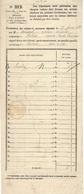Les Taxes Dans Le Service Des Recouvrements - Formulaire N°212  De 1879 à 1892 - - Lettere Tassate