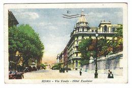 CL261 - ROMA VIA VENETO - HOTEL EXCELSIOR DISEGNATA ANIMATA 1938 - Autres Monuments, édifices