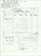 FACTURE RICARD LE : 03 JUIN 1966 . - France