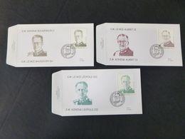 "BELG.1998 2738 & 2739 & 2740 FDC's (Hamme)  : "" Belgische Dynastie / La Dynastie Belge "" - FDC"