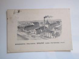 1919 Carte Publicitaire BRASSERIE MALTERIE BRUNO SARS-POTERIES (Nord) VIN & SPIRITUEUX - Sonstige Gemeinden