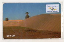 MAURITANIE RECHARGE MAURITEL MOBILES 500 UM - Mauritania