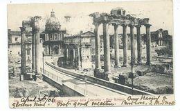 Italy Postcard Roma Rome Tempio Della Concordia Posted 1906 - Autres Monuments, édifices