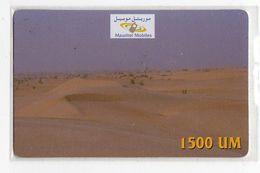 MAURITANIE RECHARGE MAURITEL MOBILES 1500 UM Le Désert - Mauritanië