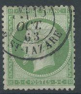 Lot N°55958   N°20, Oblit Cachet à Date De PARIS (R.St-Lazare), Correspondant à L'étoile 2, Ind 11 - 1862 Napoléon III