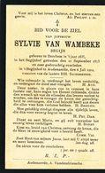 Doodsprentje  ZUSTER NON NONNE  BEGIJN  Van Wambeke   Berchem 1835  Oudenaarde 1912 - Religion & Esotérisme