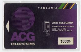 TANZANIE RECHARGE ACG TELESYSTEMS 1000/- Unit - Tanzania
