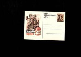 Postekarte 2 Kriegs WHW 6+4 Deutsches Reich Kampfen Arbeiten Opfern - Histoire